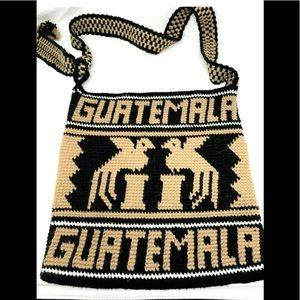 Guatemala Two Tone Brown Handbag F1756